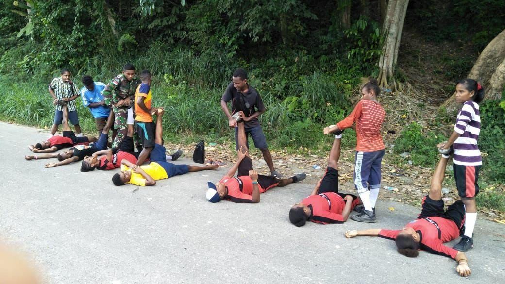Satgas Yonif 501 Kostrad Lakukan Seleksi Calon Atlet Nasional Papua