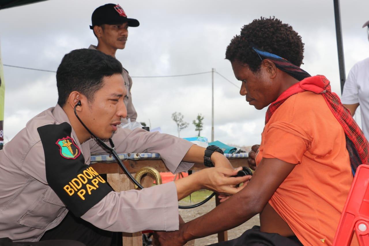 Polda Papua laksanakan Bhakti Sosial Kesehatan di Kabupaten Nduga