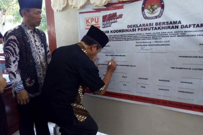 PPK Deklarasi Bersama Forum Koordinasi Pemuktahiran Daftar Pemilih