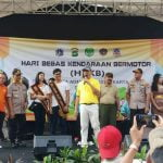 Polsek Tanjung Duren dan Palmerah Apel Hari Bebas Kendaraan Bermotor