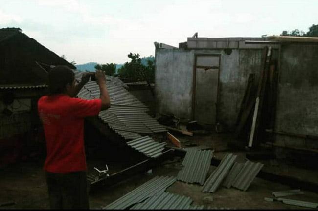 Delapan Rumah Warga Rusak Akibat Hujan Disertai Angin Kencang