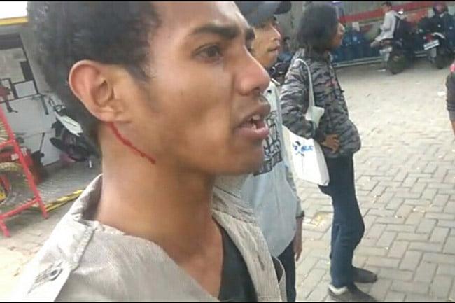 Demo Kepala BIN, Mahasiswa Dipukuli Orang Tak Dikenal