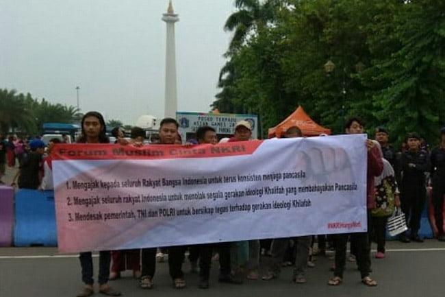 Forum Muslim Cinta NKRI Menolak Aksi Khilafah Internasional
