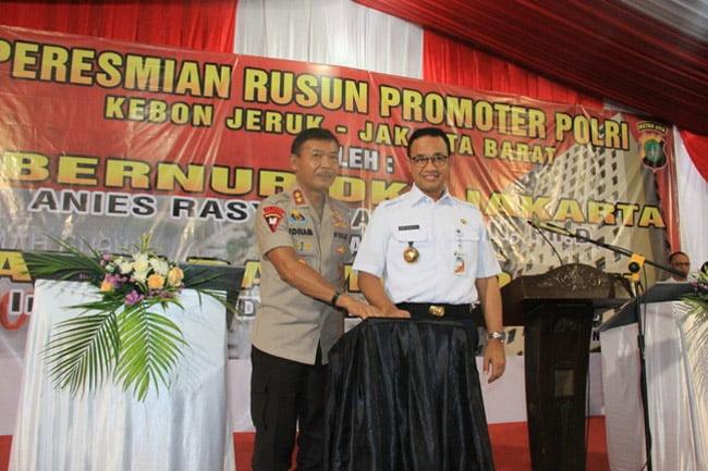 Gubernur DKI Jakarta dan Kapolda Metro Jaya Resmikan Rusun Promoter