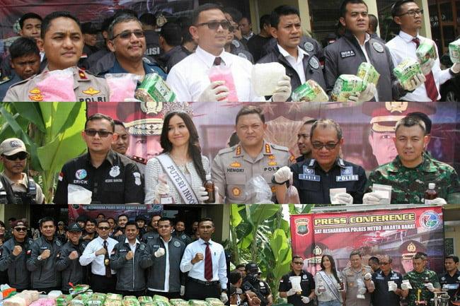 Polres Metro Jakbar Tangkap 1.414 Tersangka Kasus Narkoba