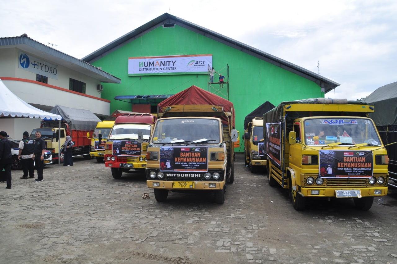 20 Truk Bantuan ACT di Berangkatkan ke Pandeglang dan Lampung Selatan