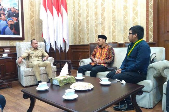Walikota Bogor dan Diko Nugraha Bahas Kesiapan Kongres KNPI