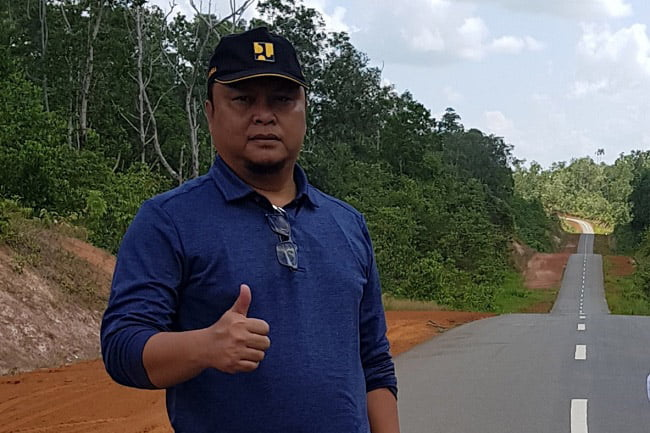 Pembangunan Infrastruktur Jalan Merau ke Tanah Merah Tidak Ada Kendala
