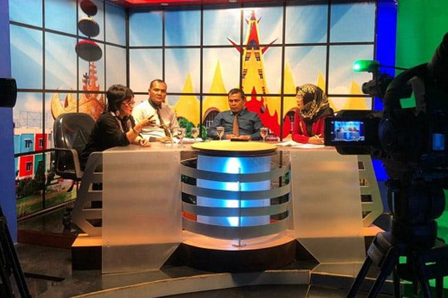 Polda Lampung Gelar Talkshow Anti Hoax di Televisi