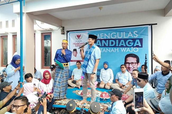 Sandiaga Uno Kunjungi Wajo Sulsel, Ziarah ke Makam Kakek Wali Songo