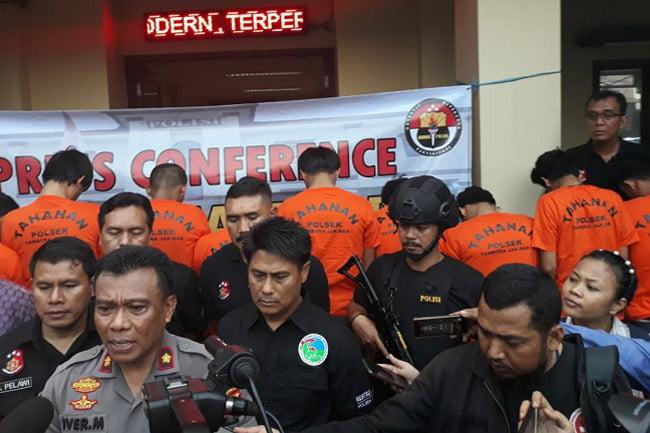 Diduga 14 Pemuda Asyik Pesta Sabu Satu Rumah Kost Digerebek Polisi