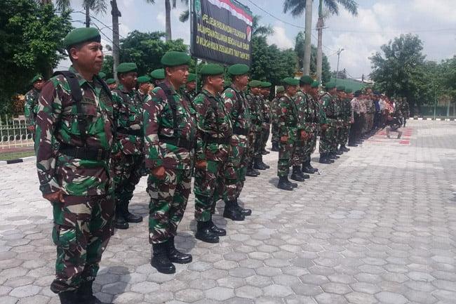 Kodim 0505/JT Apel Bersama Tiga Pilar Jaktim