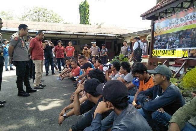 27 Juru Parkir Liar di Kota Padangsidimpuan Diboyong ke Polres