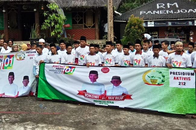 Presidium Aktivis 212 Ciamis: Kami Dukung Jokowi-Makruf Amin