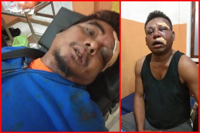 Dua Wartawan Babak Belur Dihajar Oknum TNI Denzipur 12 Nabire