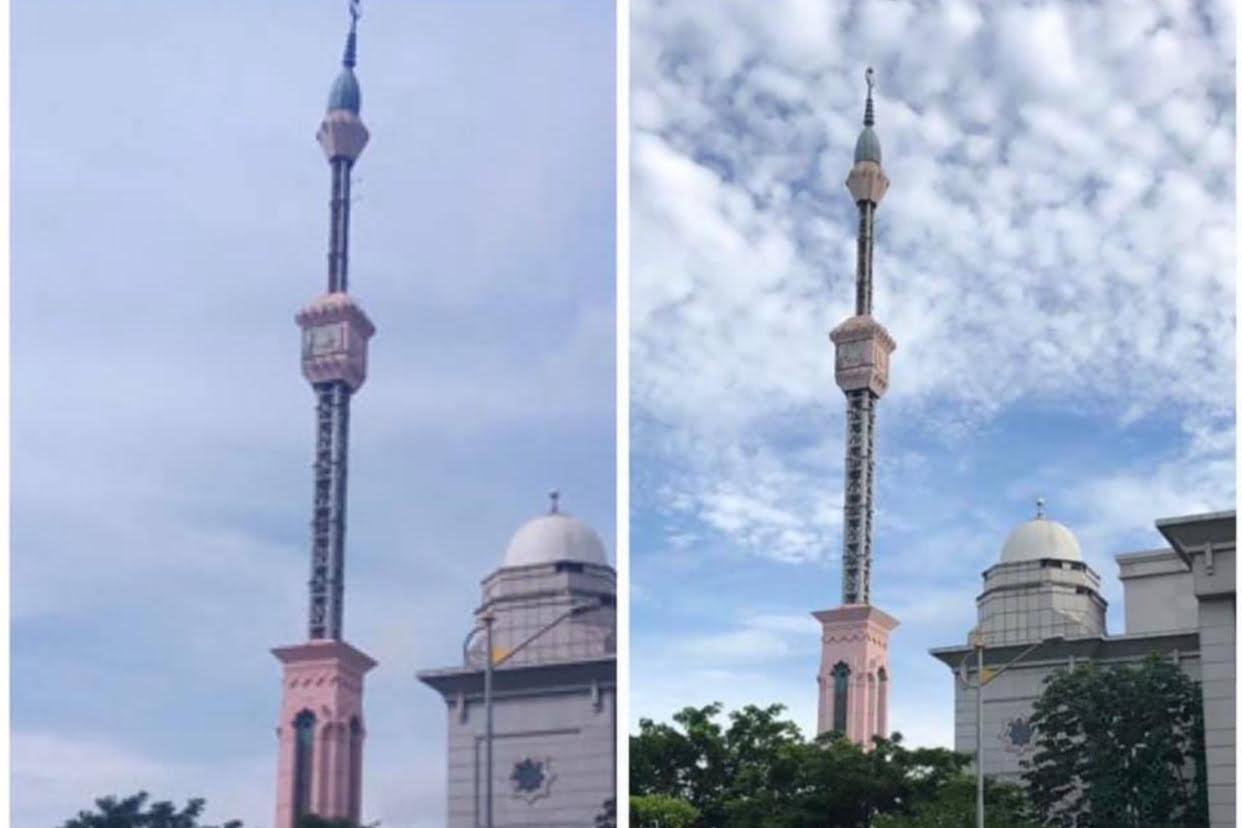 Menara Jakarta Islamic Centre Miring Berhasil Diperbaiki