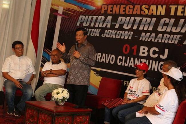 Agum Gumelar Pimpin Bravo Cijantung Deklarasikan Jokowi-Ma'ruf