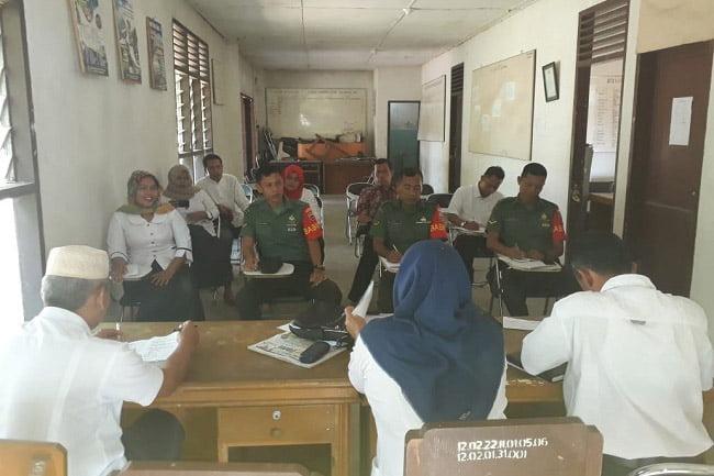 Rapat Posko Kegiatan Babinsa Koramil 02 Kota Padangsidimpuan