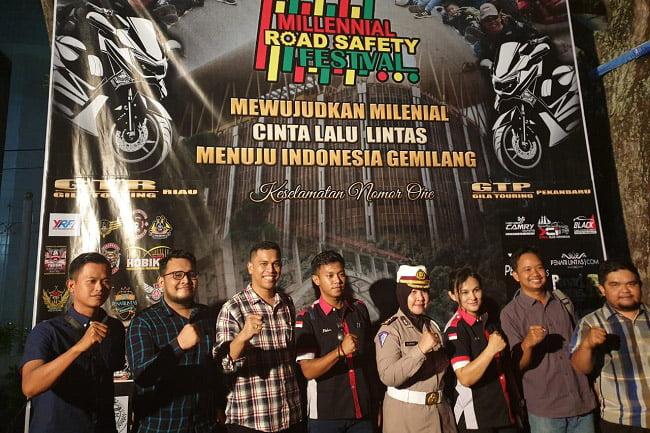 Awali Millenial Road Safety Festival, Polda Riau Gelar Kopdar Bikers