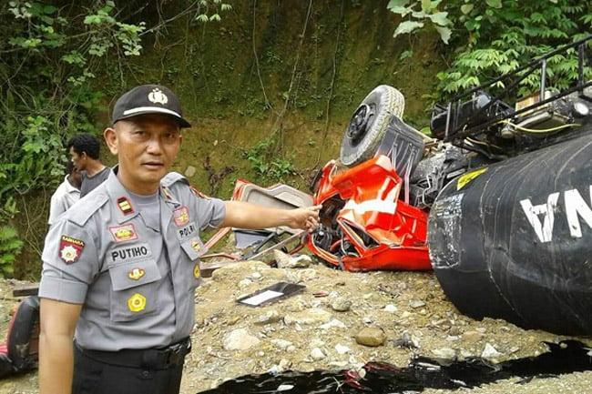 Ruas Jalan Nasional Tanjakan Gunung Dela Kembali Telan Korban