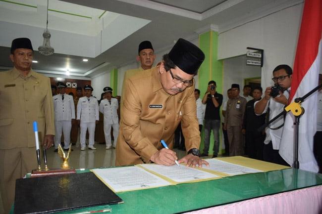 Walikota Padangsidimpuan Lantik 41 Orang Pejabat Eselon III dan IV