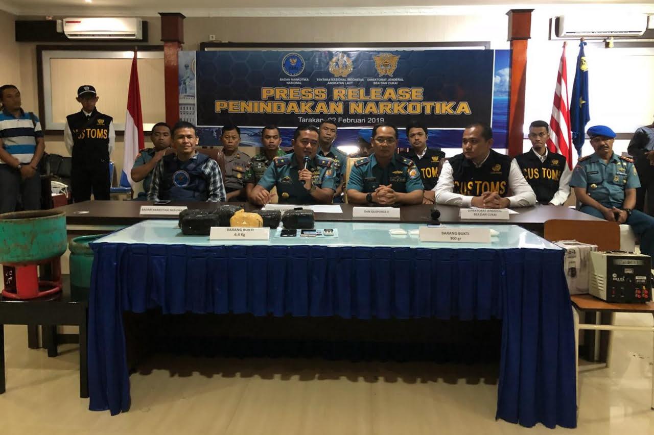 Bea Cukai, BNN dan TNI Amankan Sabu Dalam Rongga Tabung Gas