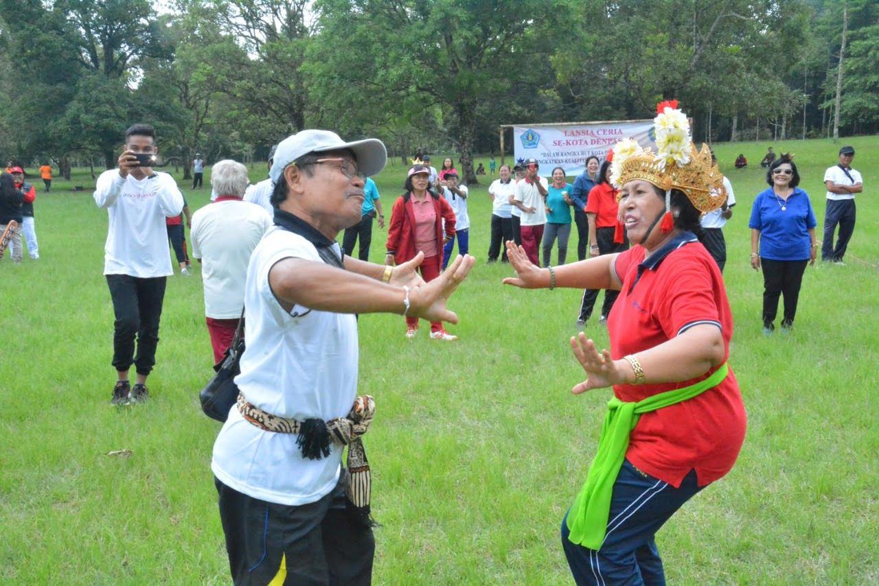 Lansia Ceria, Implementasi Denpasar Sebagai Kota Sehat Dunia