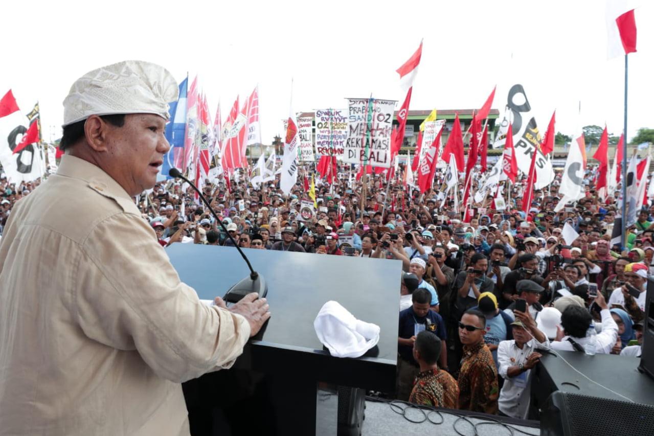 Prabowo Minta Pendukungnya Memiliki Sikap Kesatria Seperti Pandawa