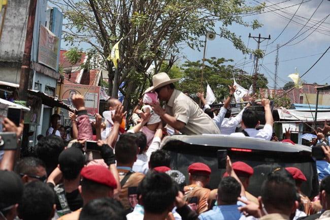Awali Kampanye Terbuka di Manado, Prabowo: Torang Samua Basudara