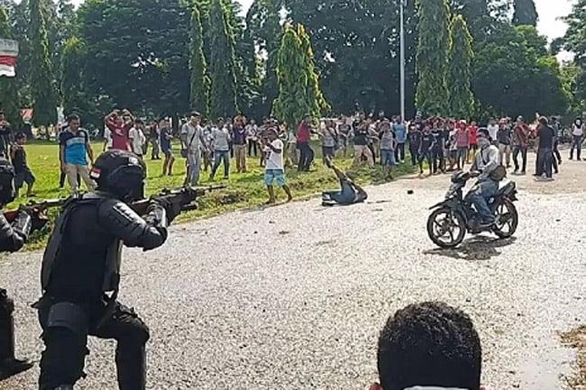 Pengamanan Pemilu 2019 di Muna Sulawesi Tenggara Berakhir Rusuh