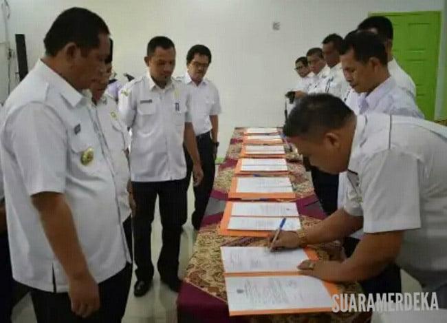 Kepala OPD Se Kota Padangsidimpuan Tandatangani Perjanjian Kinerja