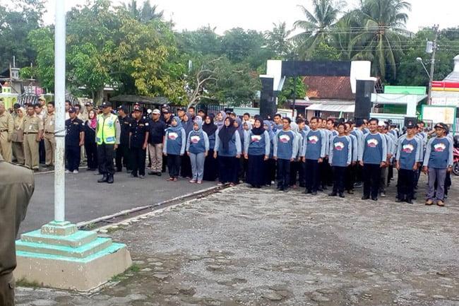 TNI-Polri, ASN dan Potensi Masyarakat Gelar Apel Kesiapan Pemilu 2019