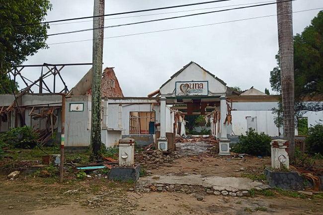 Bangunan Ex RSUD Raha Muna Dijarah, YangTersisa Hanya Tembok