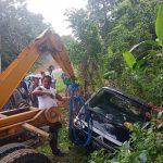 Ngantuk, Mobil Jatuh di Jurang Warangga Sulawesi Tenggara
