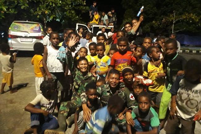 Trauma Healing Anak-Anak Korban Banjir Bandang Sentani Jayapura