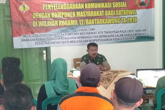 Jalin Silaturrahmi, Koramil 12 Batangkawung Gelar Komsos