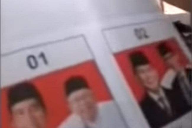 Video Penggerebekan Surat Suara 01 Tercoblos di Malaysia