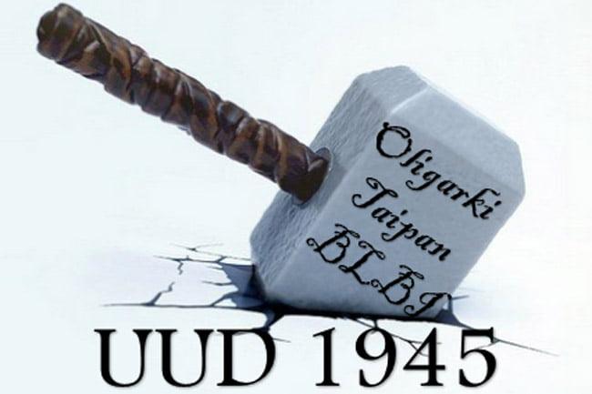 Proyek Utama Oligarki Taipan BLBI Adalah Menghancurkan UUD 1945. Amandemen UUD 1945 Hanyalah Untuk Mengacaukan Saja. Oleh: Salamuddin Daeng,