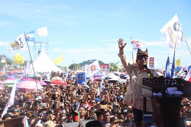 Prabowo: Saya Bersumpah Tidak Akan Memperkaya Diri dan Keluarga