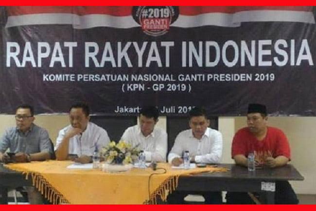 Pernyataan Pengurus Pusat KPN-GP (Komite Persatuan Nasional-Ganti Presiden) 2019