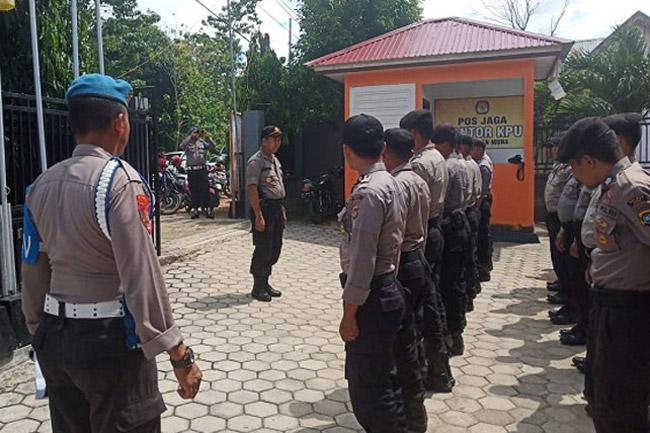 Polres Muna Siap Amankan Pelaksanaan Pleno KPU Sampai Selesai