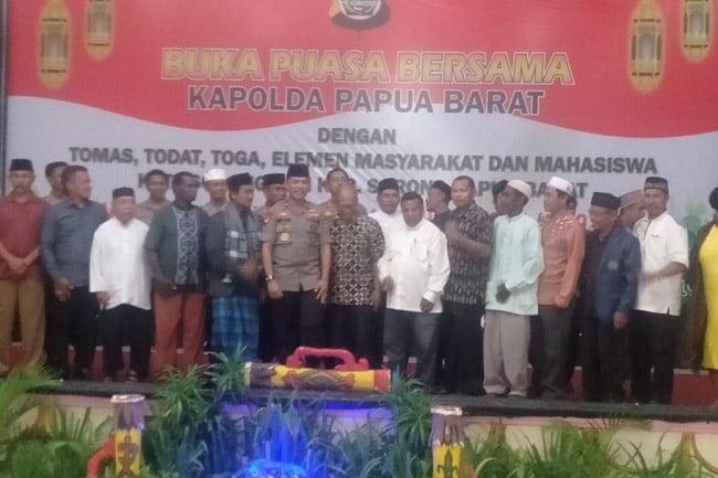 Kapolda Papua Barat Buka Puasa Bersama di Sorong