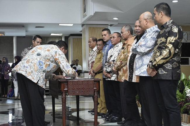 Walikota Padangsidimpuan Hadiri Rapat Pencegahan Korupsi
