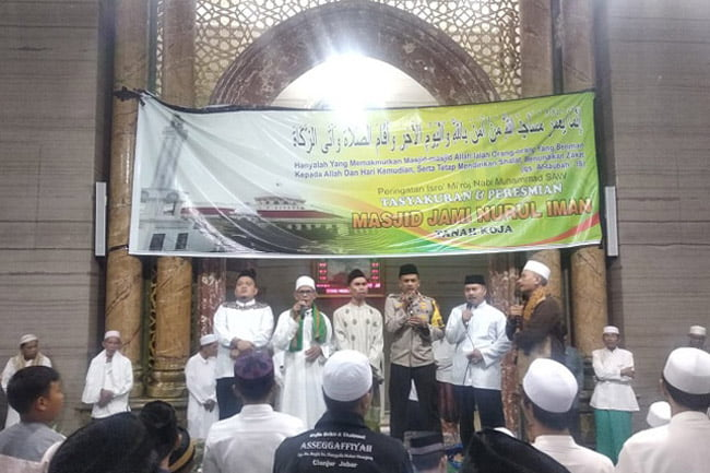 Kapolsek Cengkareng Hadiri Peresmian Masjid Jami Nurul Iman