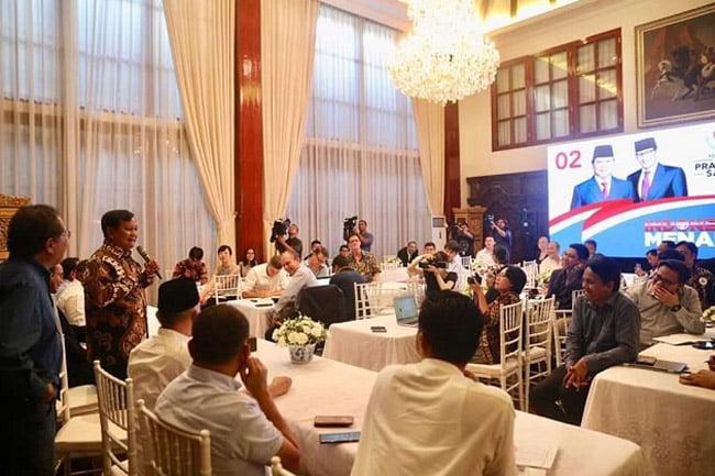 Undang Media Asing, Prabowo Paparkan Kecurangan Pilpres 2019