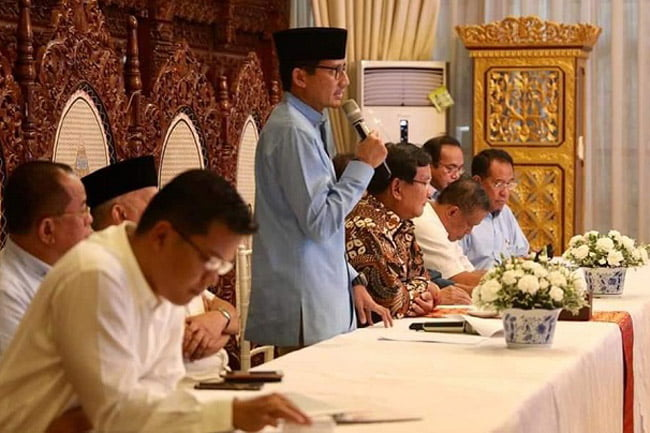 Sandiaga Uno: Rakyat Ingin Pemilu Jujur Adil