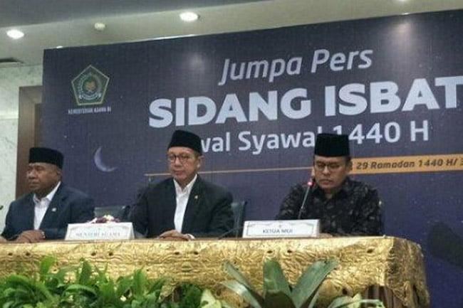 Hasil Sidang Isbat Pemerintah Tetapkan 1 Syawal Jatuh Pada Rabu 5 Mei