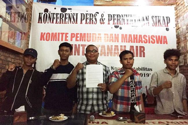 Komite Pemuda dan Mahasiswa Cinta Tanah Air Minta Ganti Panglima TNI