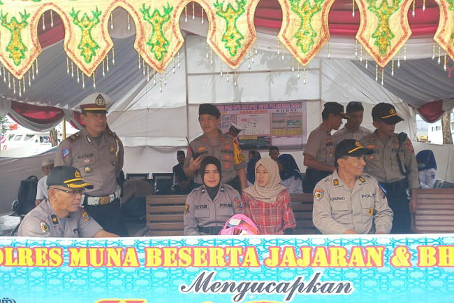 Inspektorat Polda Sultra Tinjau Posko Terpadu di Muna