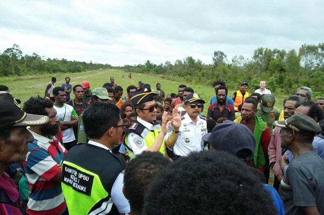 Ditjen Hubud Verifikasi Lapangan Terbang Aboge Papua